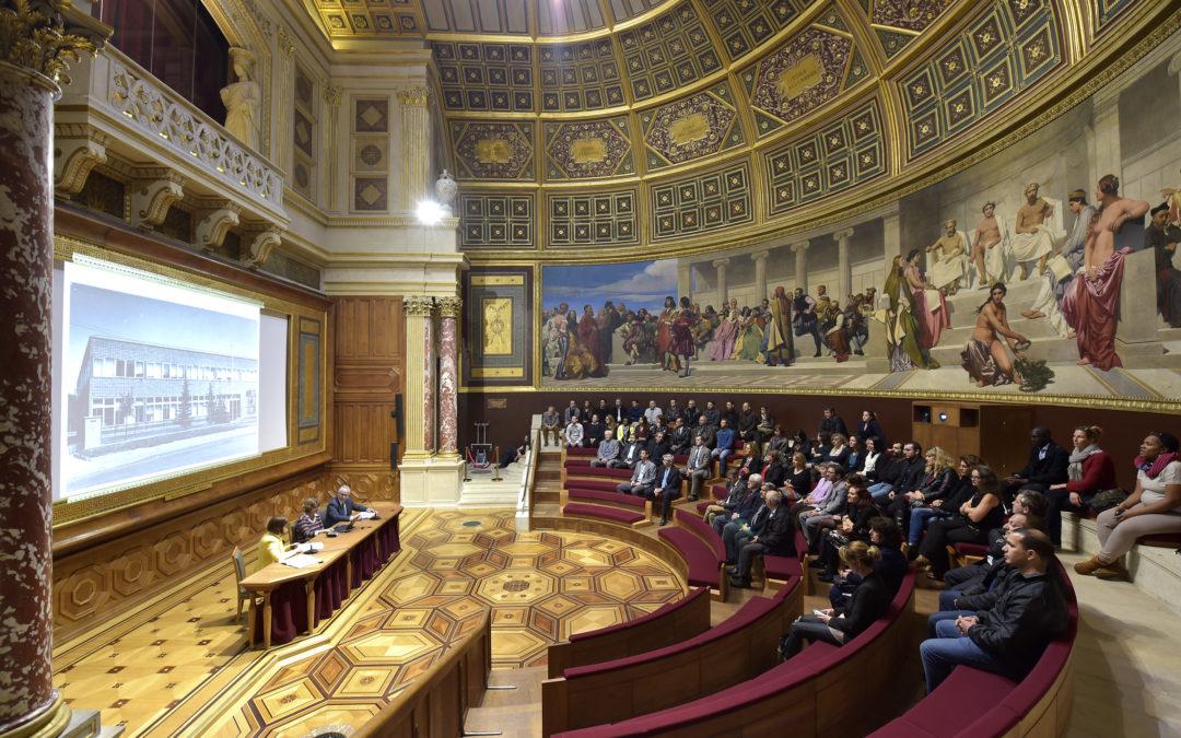 Les équipes du CTMNC et de la FFTB aux Beaux Arts de Paris pour fêter les 60 ans du CTMNC